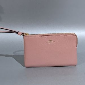 COACH Wallet Pink in Grain Leather New
